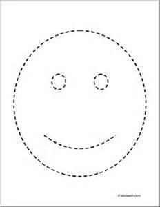 trace color happy face abcteach