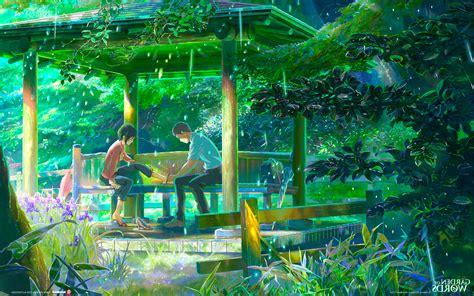 the garden of words rain makoto shinkai wallpapers hd