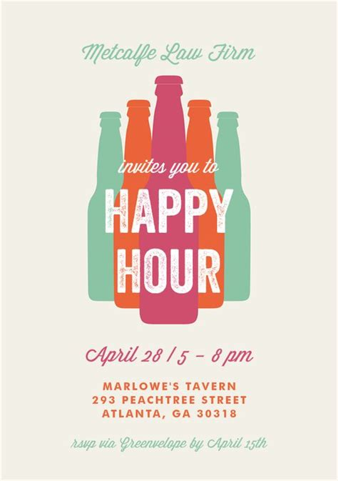 happy hour invitation template bottled happy hour invitations in creme happy happy