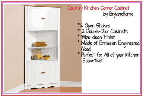 country kitchen corner cabinet brylanehome country kitchen corner cabinet country