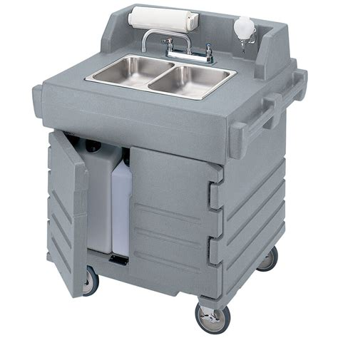 self contained portable sink cambro granite gray portable hand sink cart self