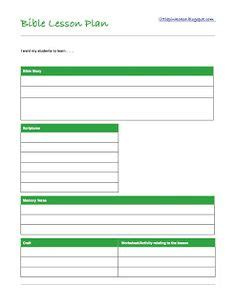 bible lesson plan template blank lesson plan templates to print lesson planning
