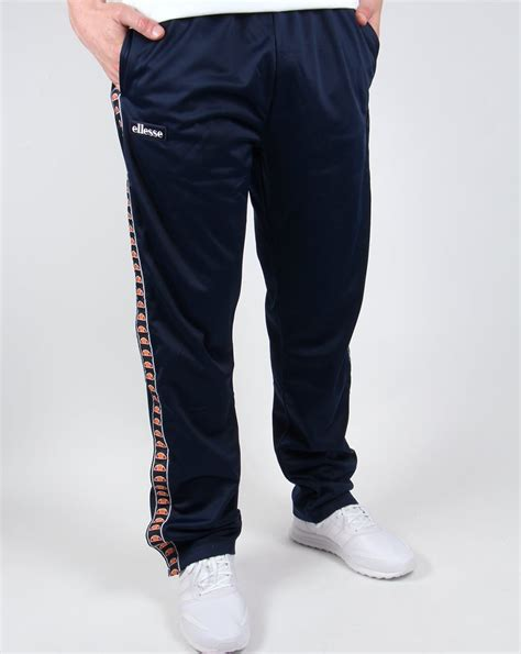 jeans swing com ellesse vigoleno track bottoms navy tracksuit pants mens