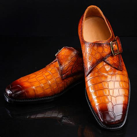 alligator shoes genuine mens alligator shoes brown casual alligator shoes