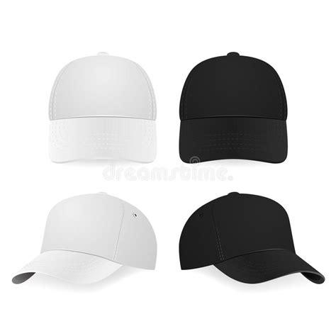 imagenes gorras negras dos gorras de b 233 isbol blancas y negras realistas