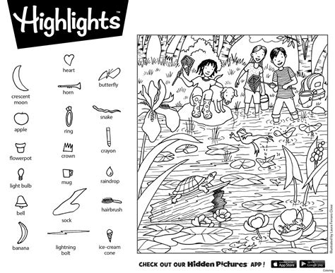 highlights hidden pictures printable christmas hiddenfolks 1 find the hidden picture coloring folks