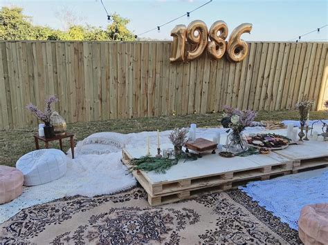 backyard party decor diy boho style backyard 30th birthday party bohemian