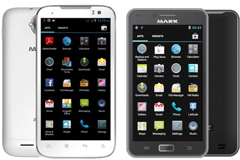 maxx mobile maxx mobiles ax8 race and ax9z race android smartphones
