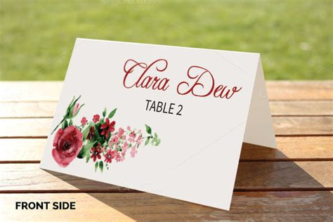 place cards template indesign tri fold table tent template indesign 187 designtube