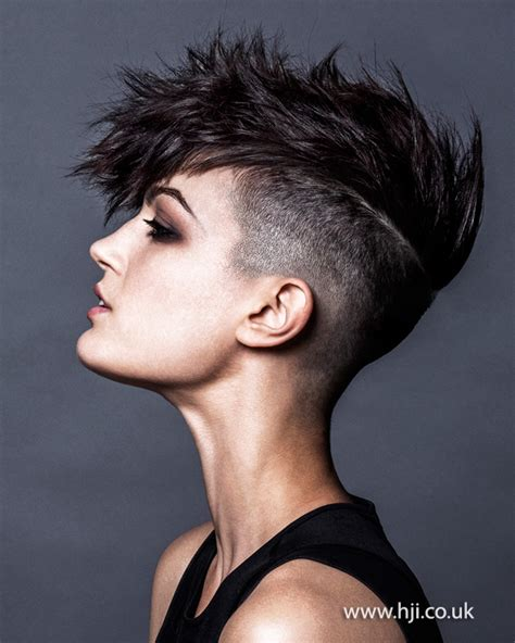 new age mohawk hairstyle 2015 womens black undercut mohawk jpg 600 215 750 curly
