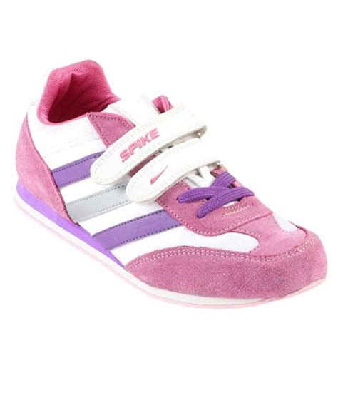 spike pink suede leather sports shoes buy s