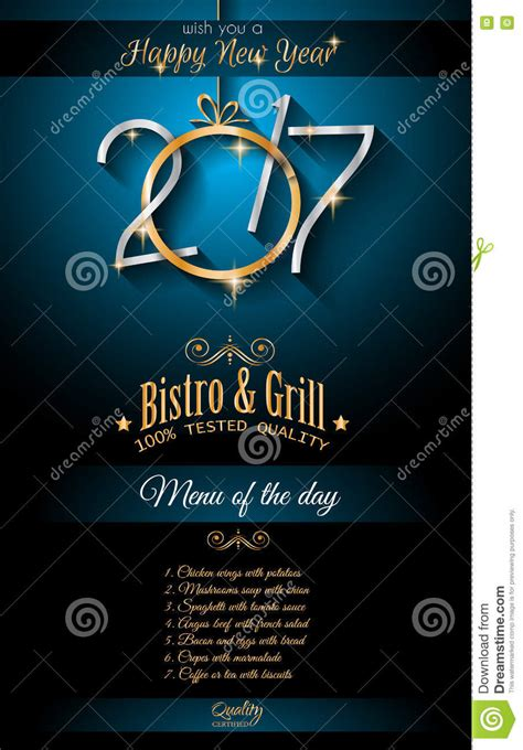 new year restaurant menu 2017 happy new year restaurant menu template background