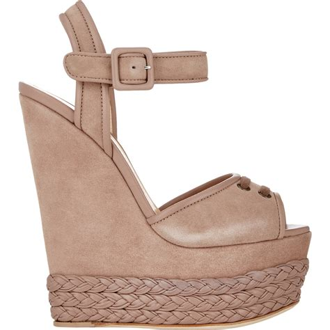Giuseppe Zanotti Architectural Wedge Sandal It Or It by Lyst Giuseppe Zanotti S Braided Platform Wedge