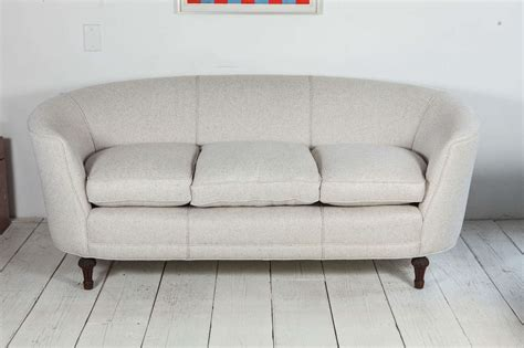 cream linen sofa oval back curved sofa in cream linen at 1stdibs