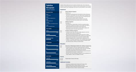 software developer resume template software engineer resume