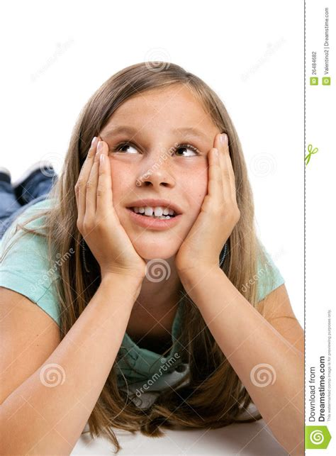 the youngest looking woman young girl looking up stock photography image 26484682