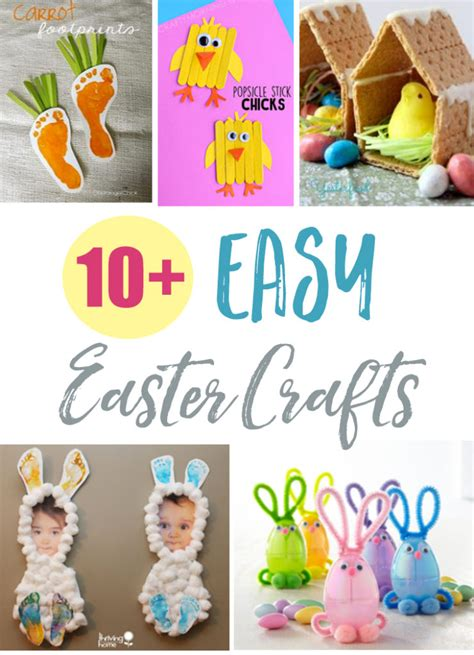 easter ideas 2017 10 easy easter crafts thriving home