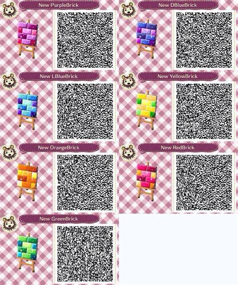 and animal motifs colorful stones applications some designers offer rainbow bricks animal crossing new leaf pinterest