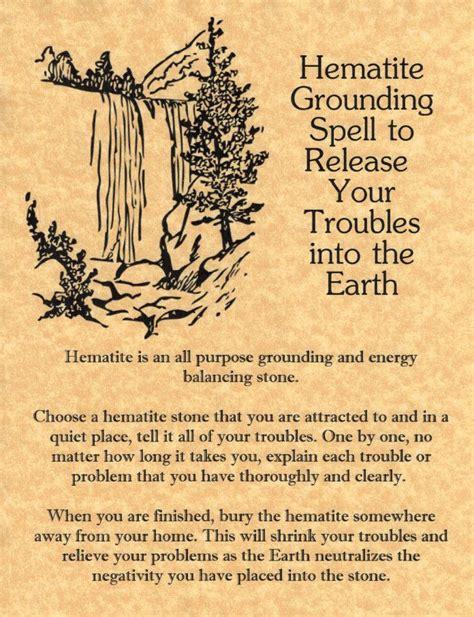 magick spells hematite grounding spell to release your