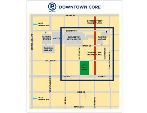 Parking Garage Burlington Vt by Burlington Vt Downtown Parking Space Map Parking
