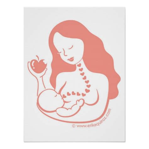 printable breastfeeding poster breast feeding mother and child print