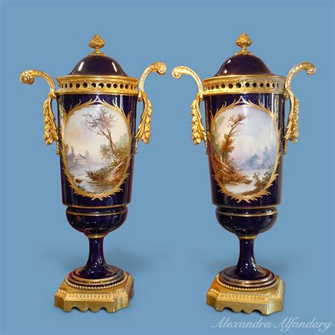European Vases a decorative pair of vases in the s 232 vres style