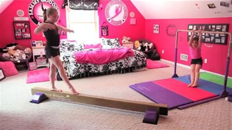 gymnastics themed bedroom dream room tumbl trak gymnastics room with home equipment