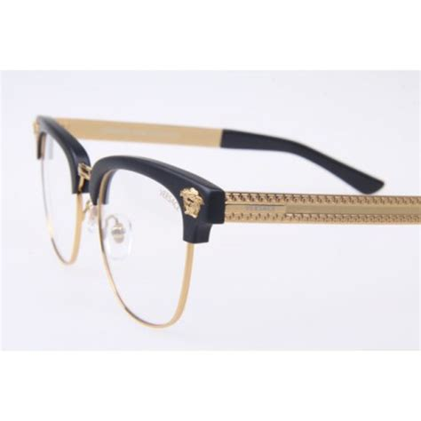 versace ve 2172 black gold eyeglasses