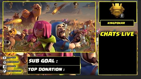 Clash Of Clans Stream Overlays Template Youtube Clash Of Clans Clan Website Template