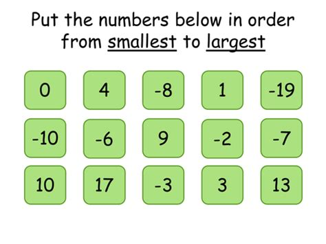 printable negative numbers games ks3 order add and subtract negative numbers by