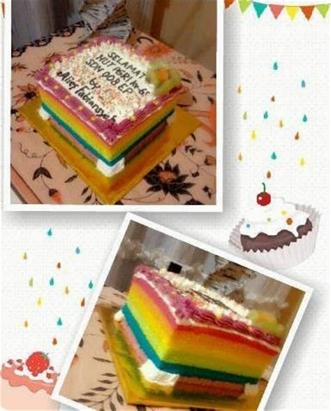 cara membuat es cream rainbow resep cara membuat rainbow butter cream