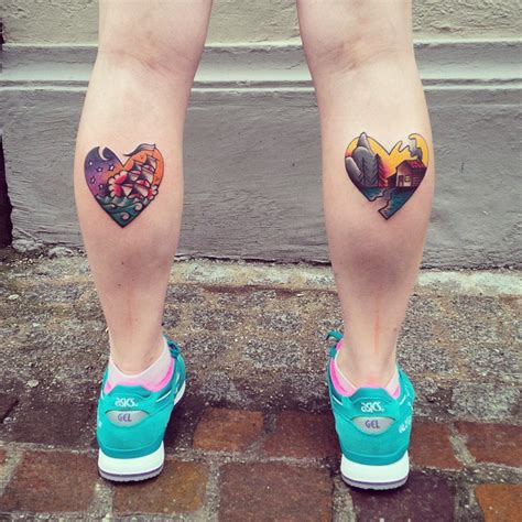 small calf tattoos 60 best calf tattoos for and