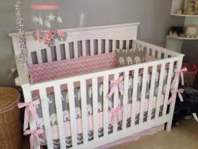 pink and gray elephant crib bedding pink and gray elephant crib bedding