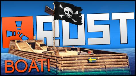how to make a boat base rust rust multiplayer gameplay part 6 boat building pirate