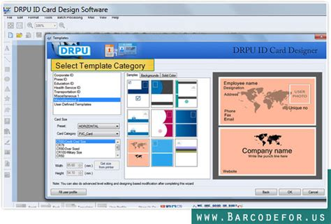 id cards templates maker screenshots of id card maker software barcodefor us