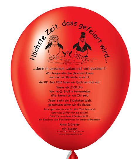 Individuelle Einladungskarten Hochzeit by Individuelle Einladungskarten Gt Einladungsballons Gt