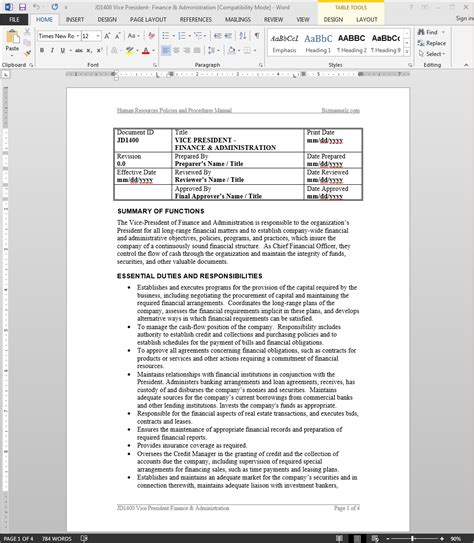 Vp Technology Description by Description For Vice President Of Engineering In Pdf Performance Evaluation Form Page 6