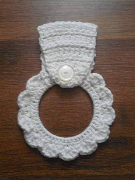 Crochet Kitchen Towel Topper by Dish Towel Holder Kitchentowel Topper Summer Home