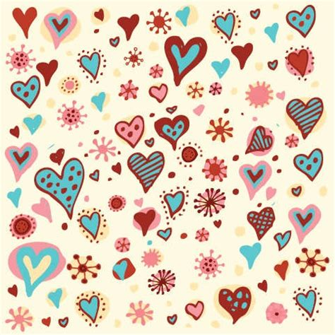valentine pattern vector valentine s day hearts pattern vector graphic free
