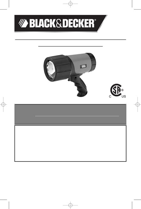 Black Decker Work Light 90515795 User Guide