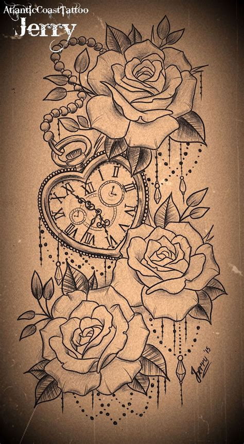 rose and clock tattoo designs the 25 best ideas about pocket tattoos on