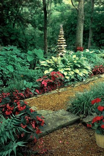 Rock Garden Plants For Shade Rock Gardens In Shaded Area Cairn In Shade Garden Made Of River Rock Surrounded