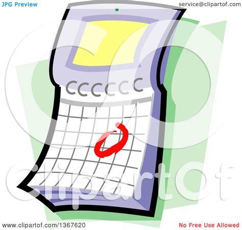 flip over desk calendar clipart of a flip desk calendar with a circled date over