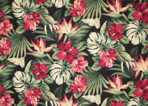 Hawaiian Print Upholstery Fabric Puahi Barkcloth Hawaii Timeless Hawaiian Fabrics For