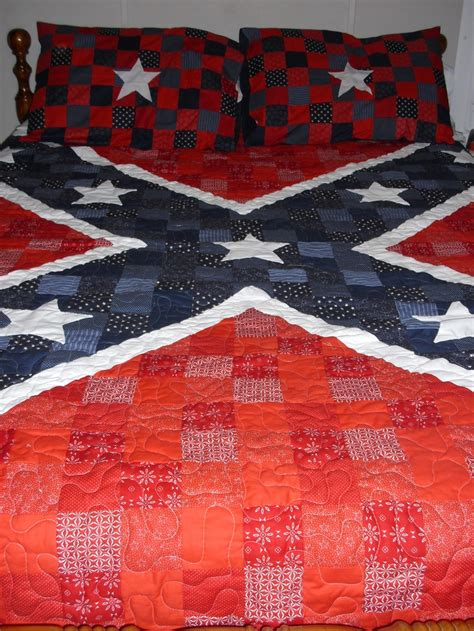 Confederate Flag Quilt pin by hanne martin on quilting
