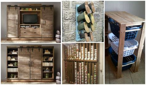 super creative diy pallet storage ideas