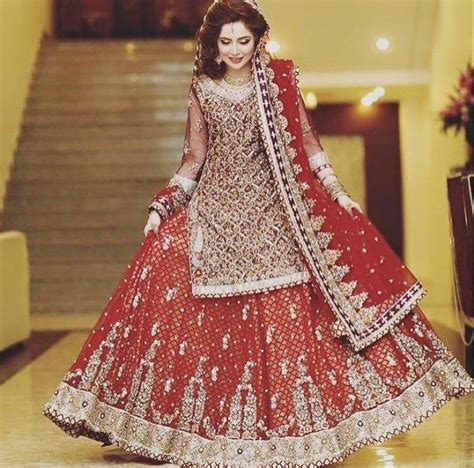 Cute Pakistani Bridal Girls Wedding Dresses Collection