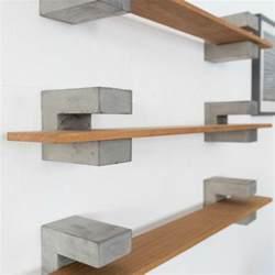 wood concrete shelf such such