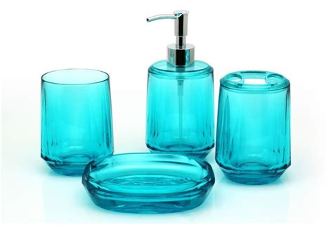 turquoise bathroom accessories sets gemme 4 piece bathroom accessory set turquoise bathroom