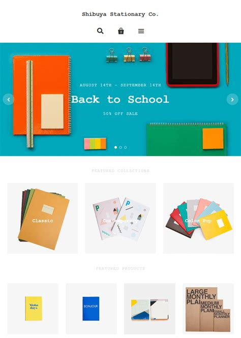 shopify themes pacific 8 of the best shopify themes for stationery stores down